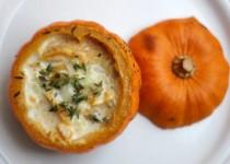 Munchkin Pumpkins with Shrimp and Couscous