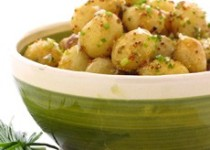Crushed Baby Potatoes with Lemon and Chives