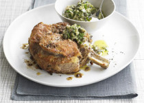 Pan-Seared Breaded Veal Cutlets with Salsa Verde